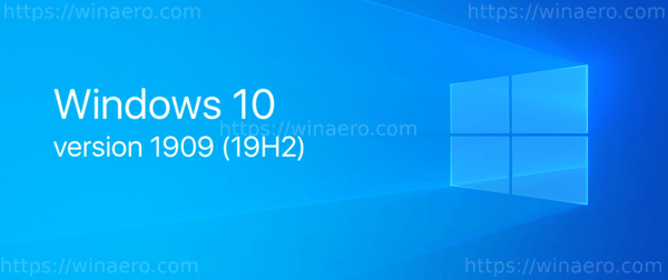 WIndows 10 1909 19h2 Banner
