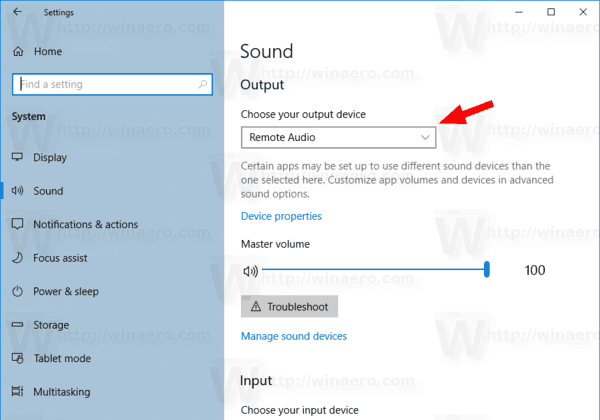 Windows 10 Select Sound Output Device