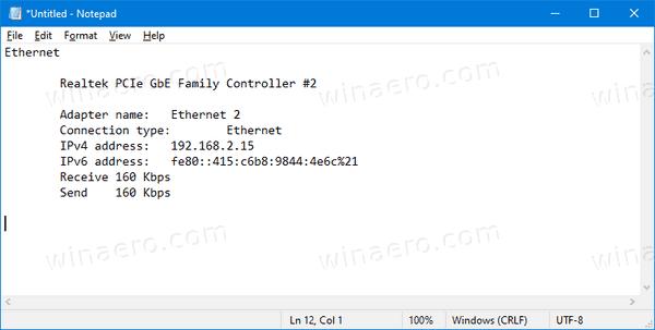 Windows 10 Task Manager Paste Ethernet