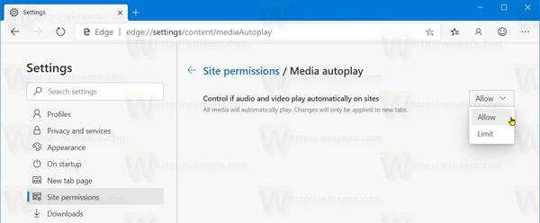 Edge Media AutoPlay Block Removed