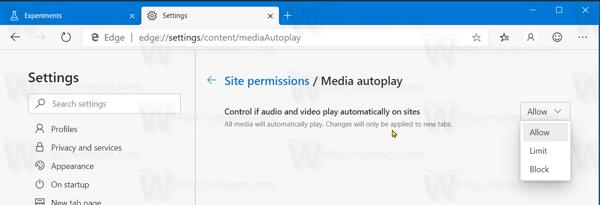 Edge Media Autoplay Block Restored
