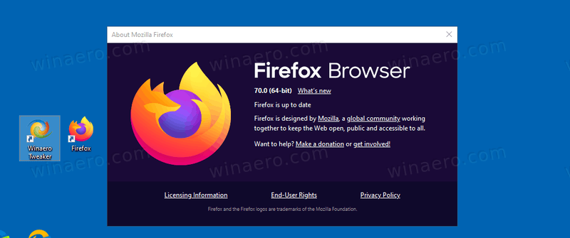 Firefox 70 About