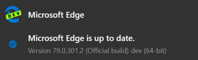 Microsoft Edge Dev 79.0.301.2