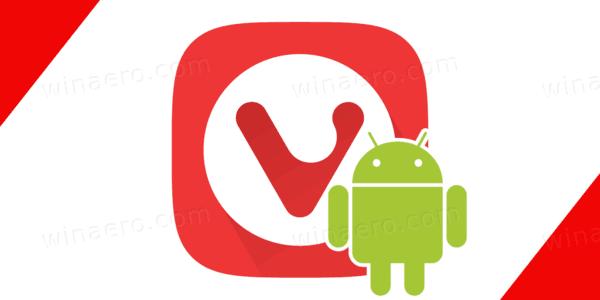 Vivaldi Android Logo Banner