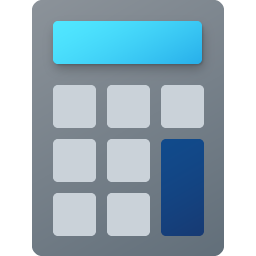 Windows 10 Calculator Fluent Icon Big 256