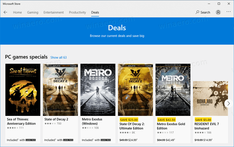 Windows 10 Store Tabbed UI 5