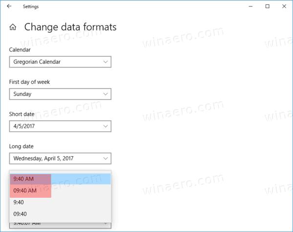 Windows 10 Taskbar Clock 12 Hour Format Settings