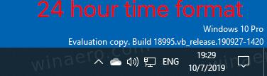 Windows 10 Taskbar Clock 24 Hour Time Format