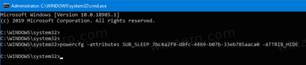Add System Unattended Sleep Timeout To Power Options