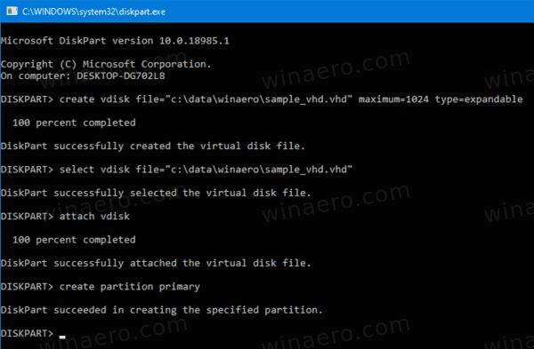 DiskPart Attach VHD 3