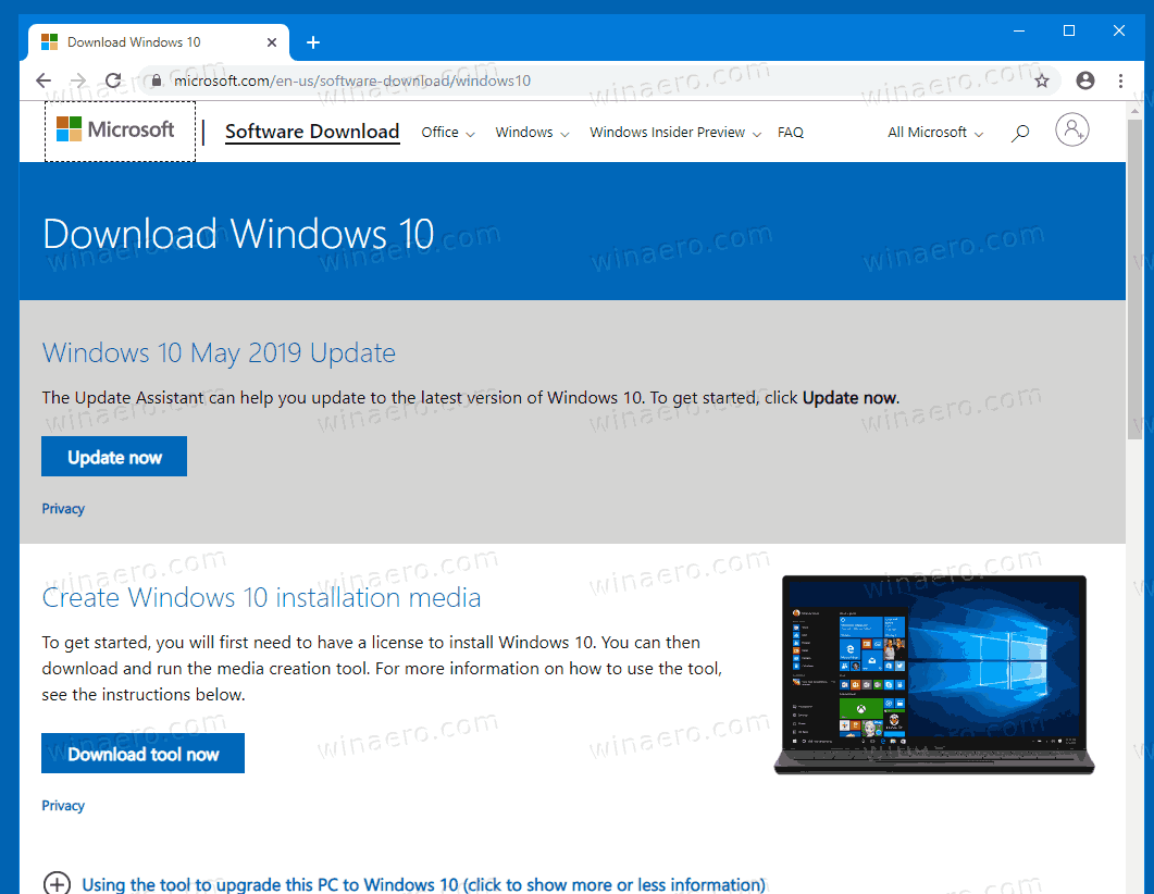 Download Windows 10 Version 1909 ISO Directly 1