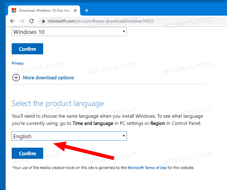 Download Windows 10 Version 1909 ISO Directly 4