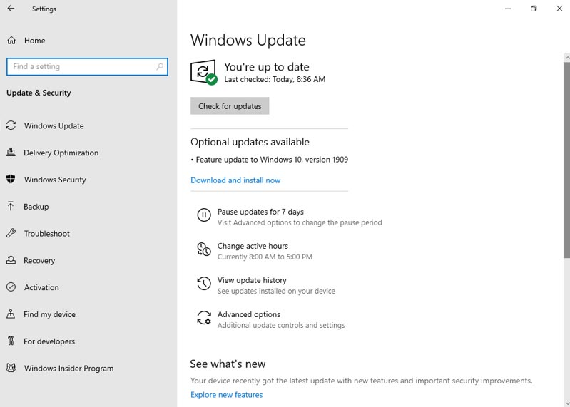 Download Windows 10 Version 1909