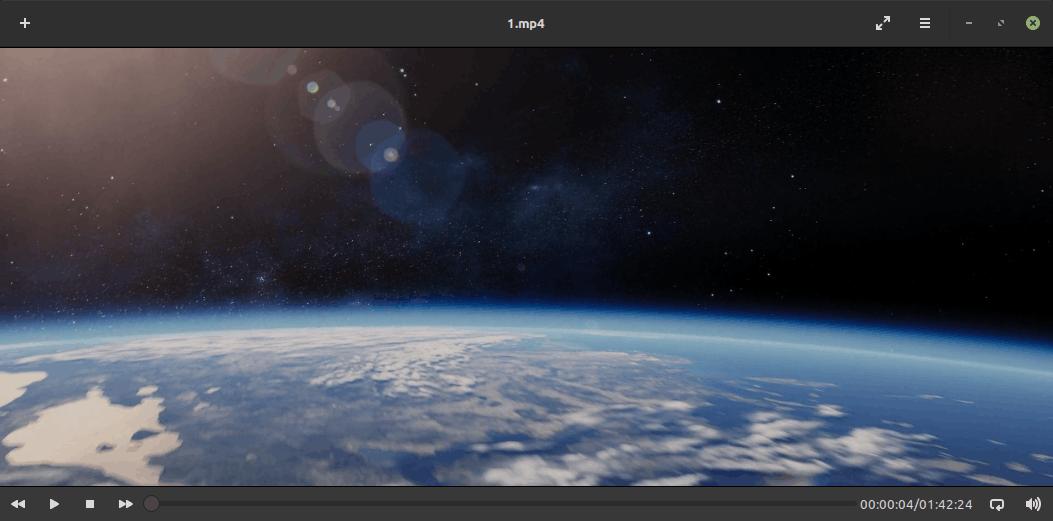 Linux Mint 19.3 Celluloid