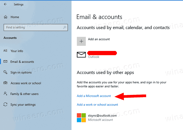 Windows 10 Add Account Used By Other Apps 1