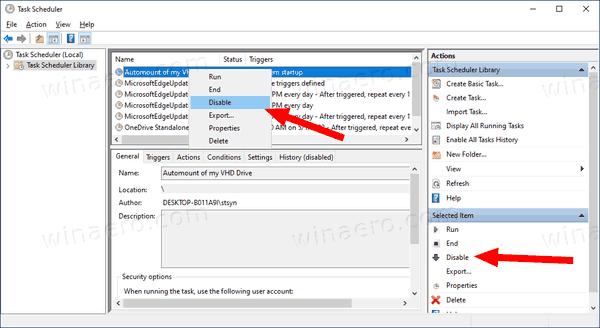 Windows 10 Automount VHD Disable Task