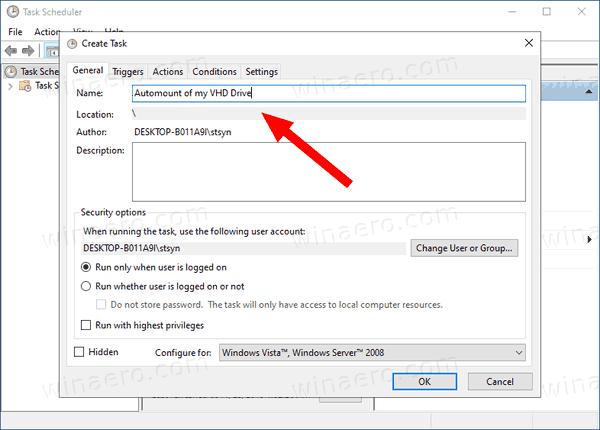 Windows 10 Automount VHD Task Name