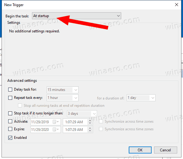 Windows 10 Automount VHD Task Trigger 1