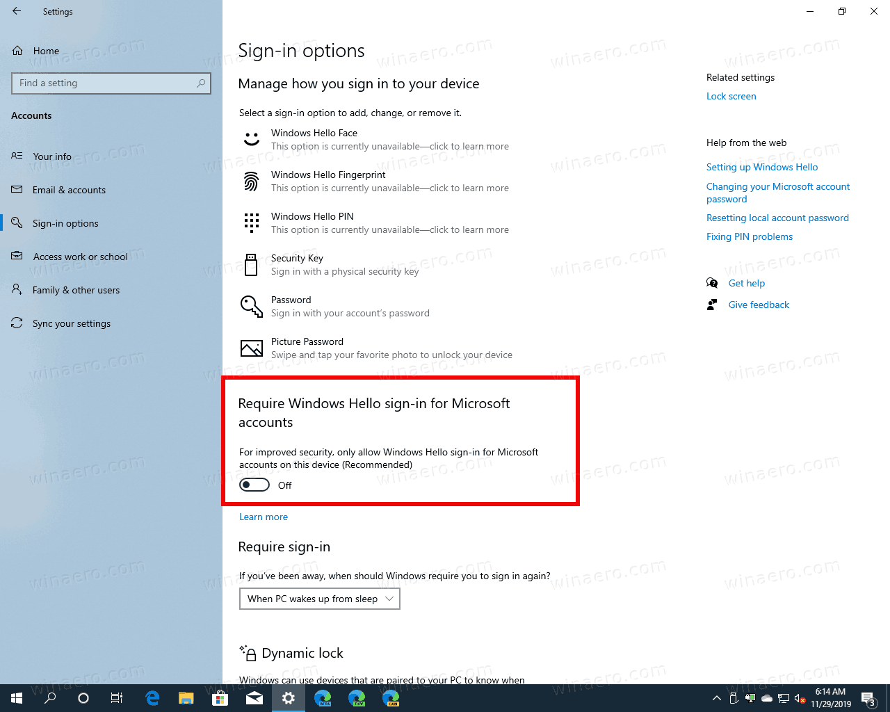 Windows 10 Disable Windows Hello