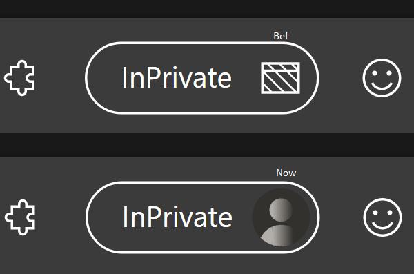 Edge InPrivate Badge Comparison
