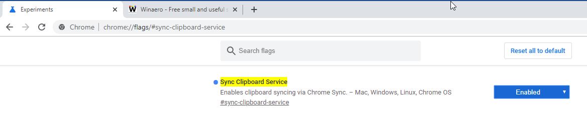 Google Chrome Enable Shared Clipboard 3