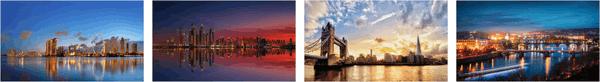 Panoramic Cityscape Premium Stripe