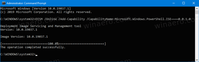 Windows 10 Install Poweshell Ise Command