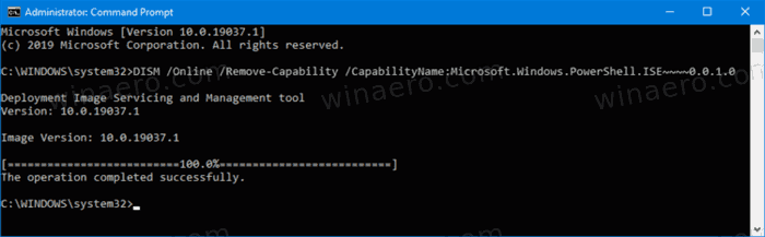 Windows 10 Uninstall Poweshell Ise Command