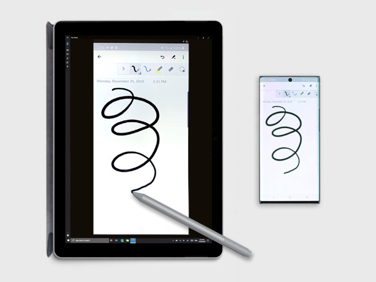 Your Phone Phone Screen Now Supports Pen Input
