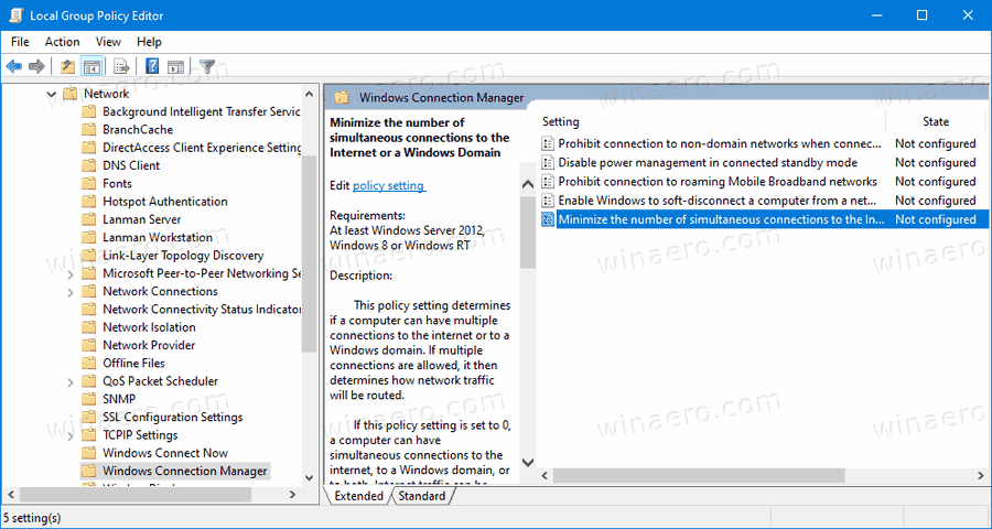 Windows 10 Minimize Number Of Connections 1
