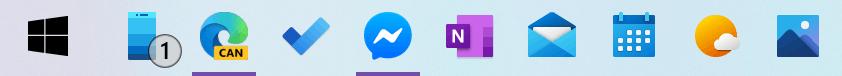 Windows 10 New Colorful Icons Taskbar Small
