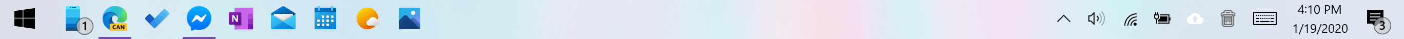 Windows 10 New Colorful Icons Taskbar