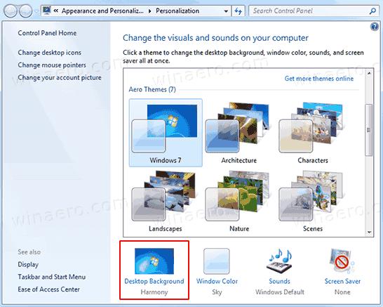 Windows 10 Personalization Desktop Background