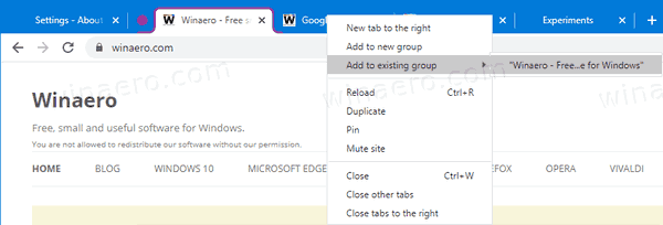 Chrome Use Tab Group 2