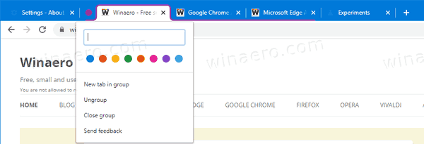 Chrome Use Tab Group 3