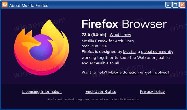 Firefox 73 About