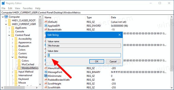 Windows 10 Disable Window Animations