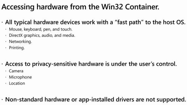 Windows 10X Win32 Apps Hardware Access