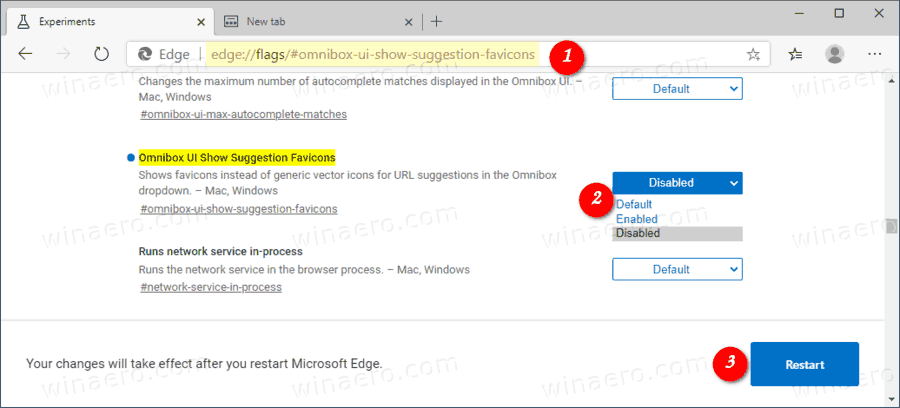 Edge Disable Address Bar Omnibox Favicons