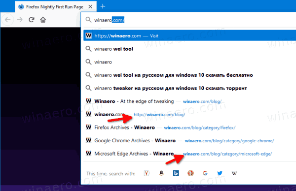 Firefox Address Bar Suggestions Without HTTPS