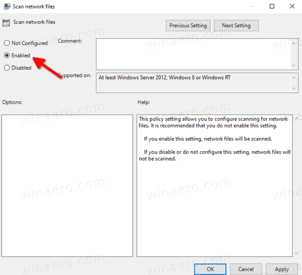 Scan Network Files In Defender With Group Policy