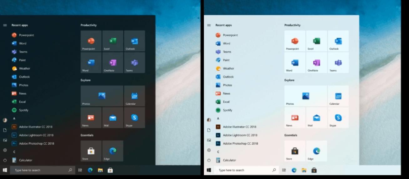Windows 10 New Start Menu Concept
