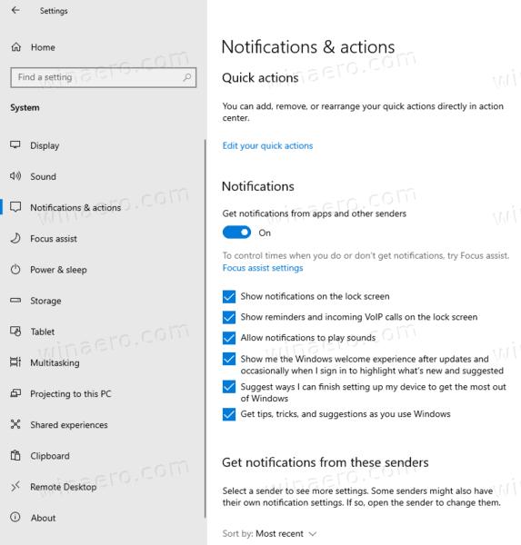 Windows 10 Ver 2004 Notifications
