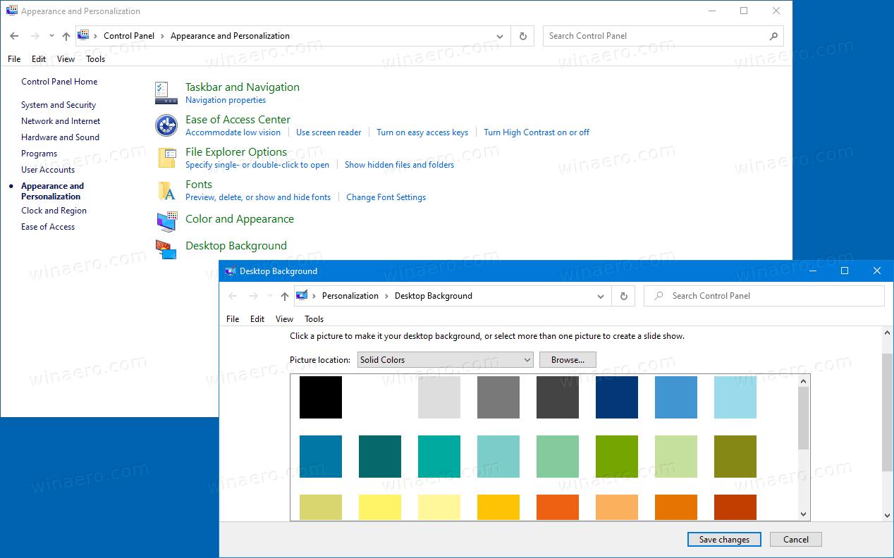 Add Desktop Background To Control Panel In Windows 10