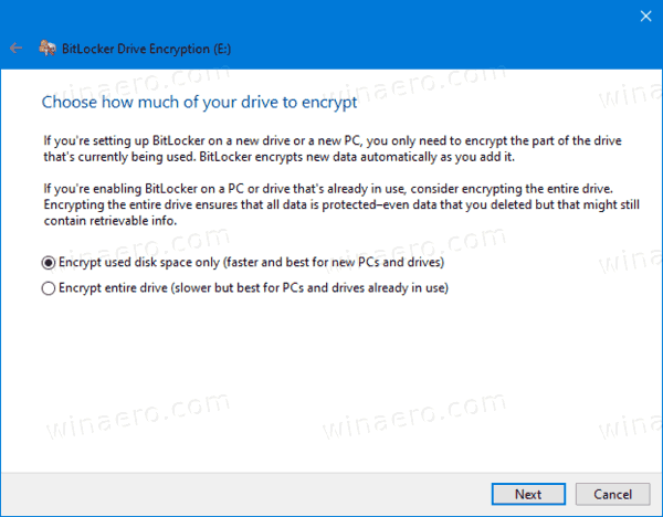 Bitlocker Encrypt Space For Fixed Drive
