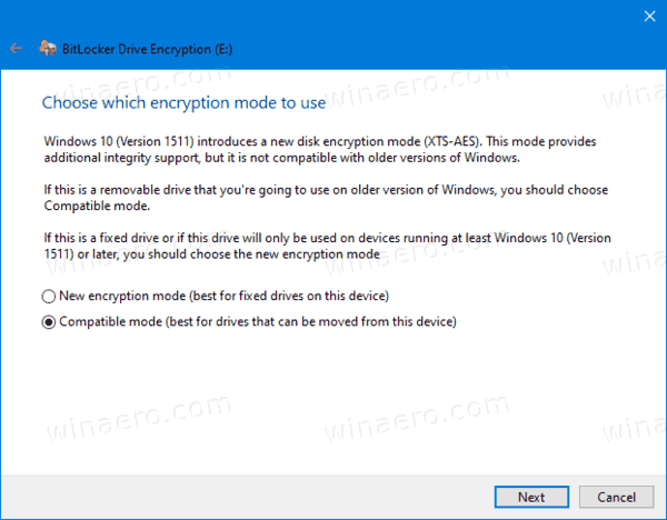 Bitlocker Encryption Method For Fixed Drive