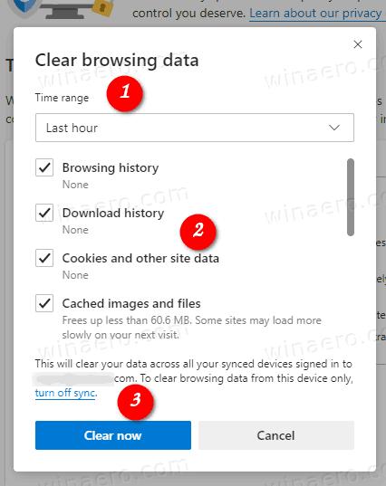 Clear Browsing Data In Microsoft Edge Chromium