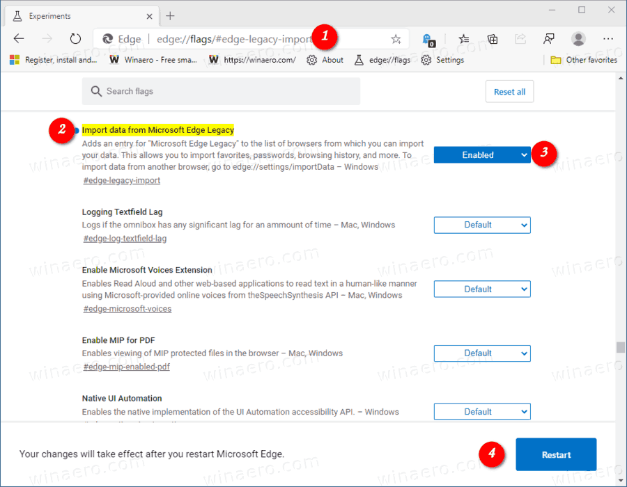 Microsoft Edge Enable Import From Edge Legacy