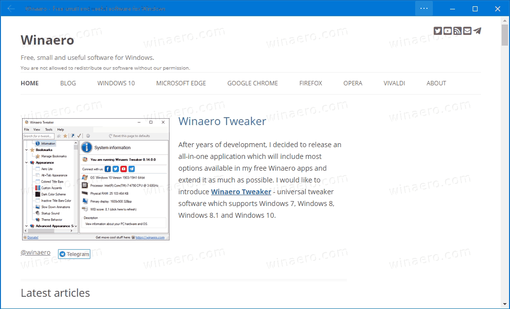 Microsoft Edge Winaero In Focus Mode