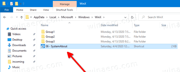 Paste To WinX Folder